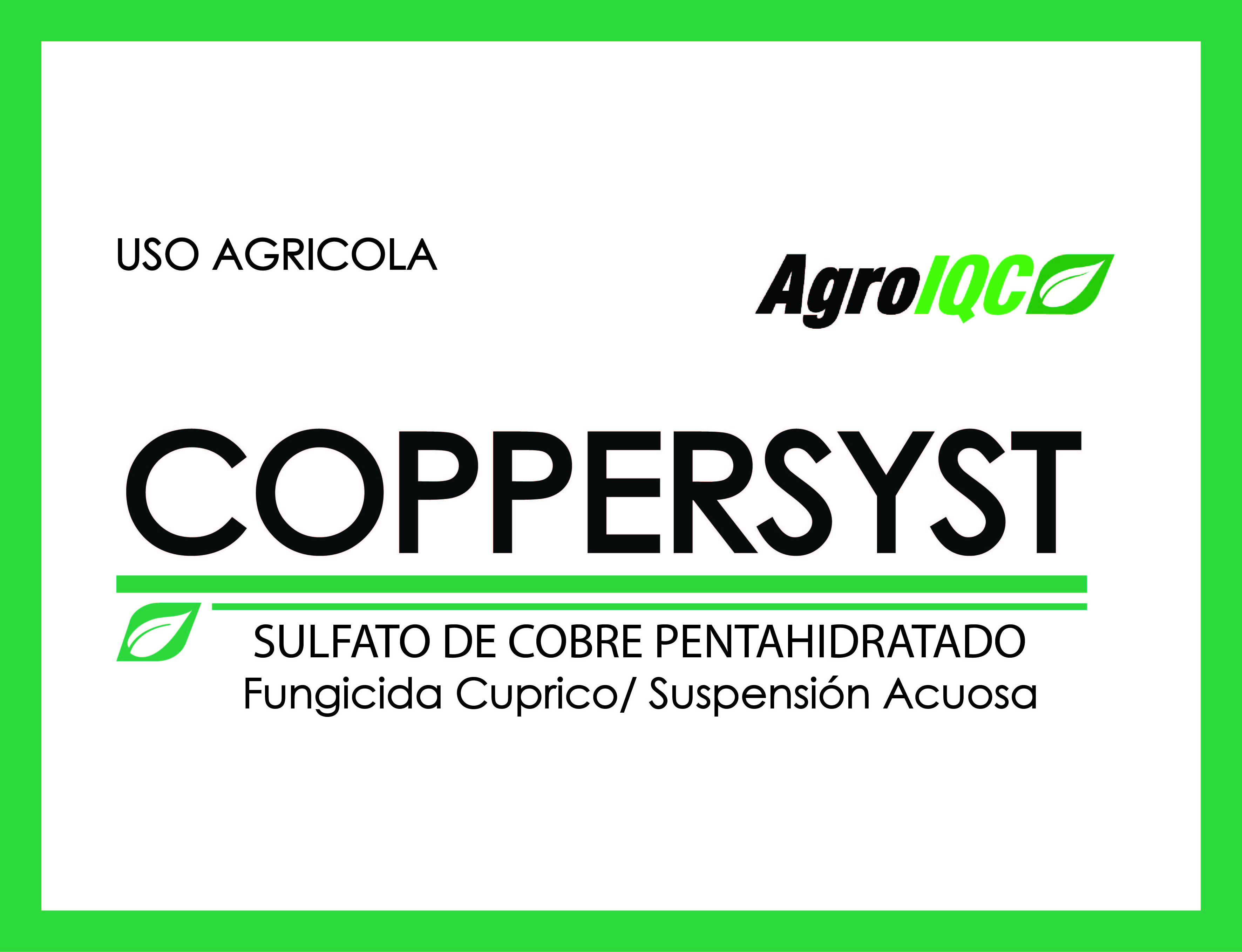 IQC - Agro - Orgánicos - COPPERSYST ORGANICO